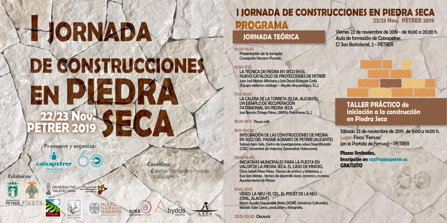 Folleto Jornada Piedra Seca (Caixapetrer)