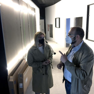 L'alcaldessa de Petrer visita les obres de la Fase III del Museu Dámaso Navarro