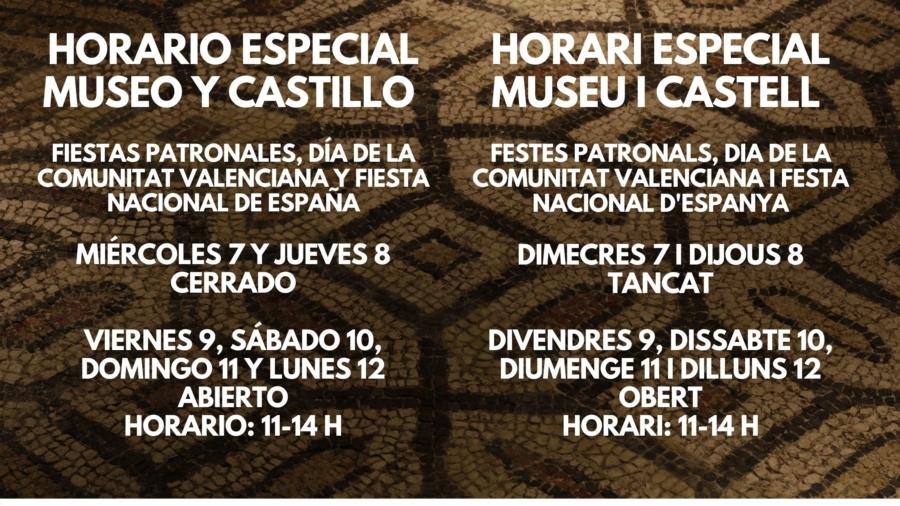HORARIO OCTUBRE MUSEO Y CASTILLO