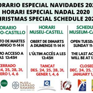 Horario especial para estas fiestas y visitas guiadas al museo los fines de semana