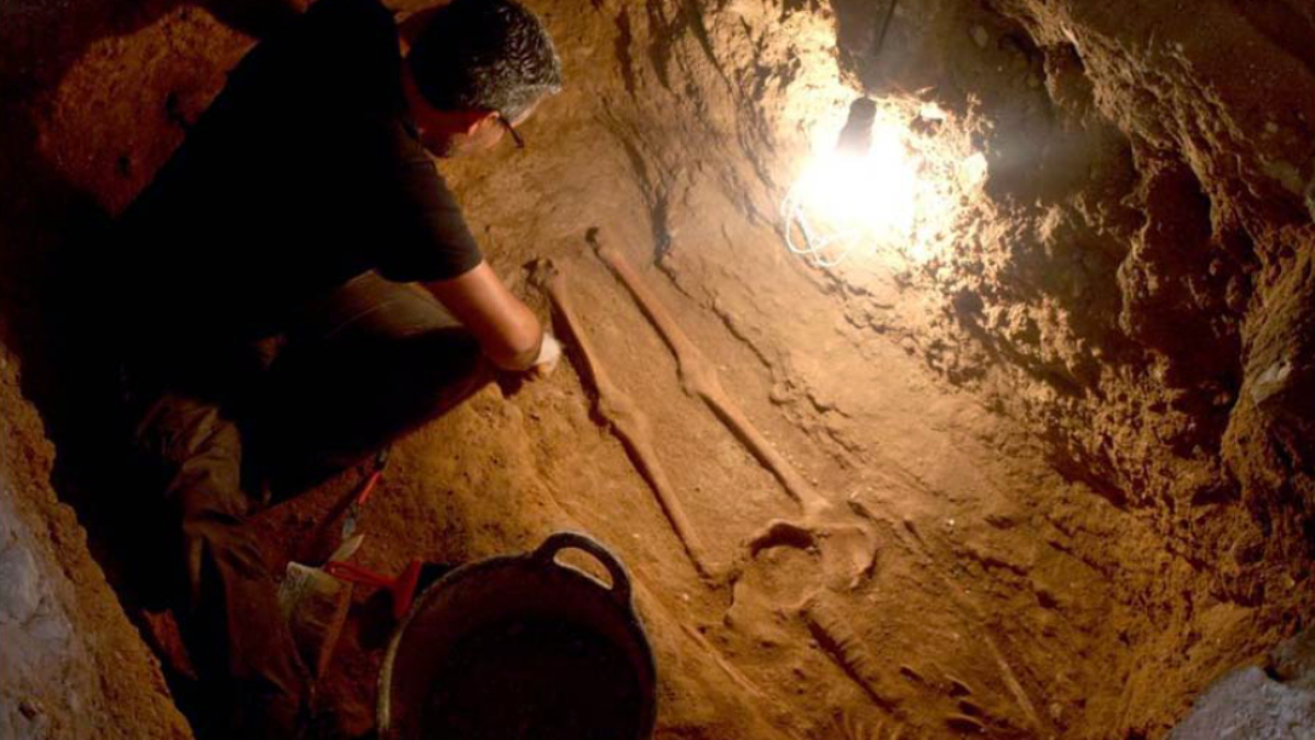 Proceso excavación necrópolis Explanada