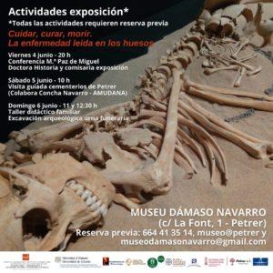 """Conferència, visita i taller familiar de l'exposició """"Cuidar, guarir, morir"""" en el Museu Dámaso Navarro"""